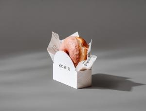 极简、黑白!新加坡Korio甜品店品牌形象设计