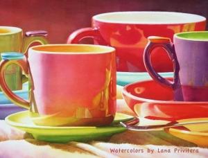 细腻轻盈的光影变化!Lana Matich Privitera水彩画作品