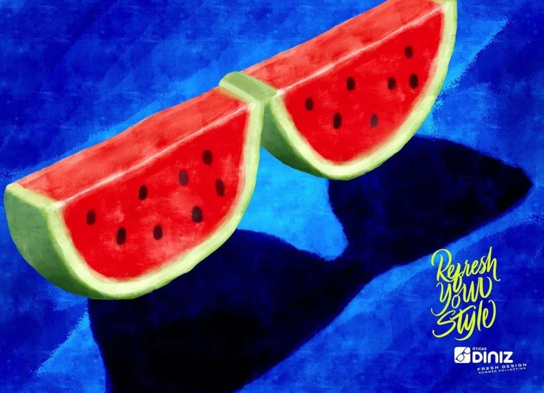 拥抱夏天!眼镜在线商城Diniz平面广告