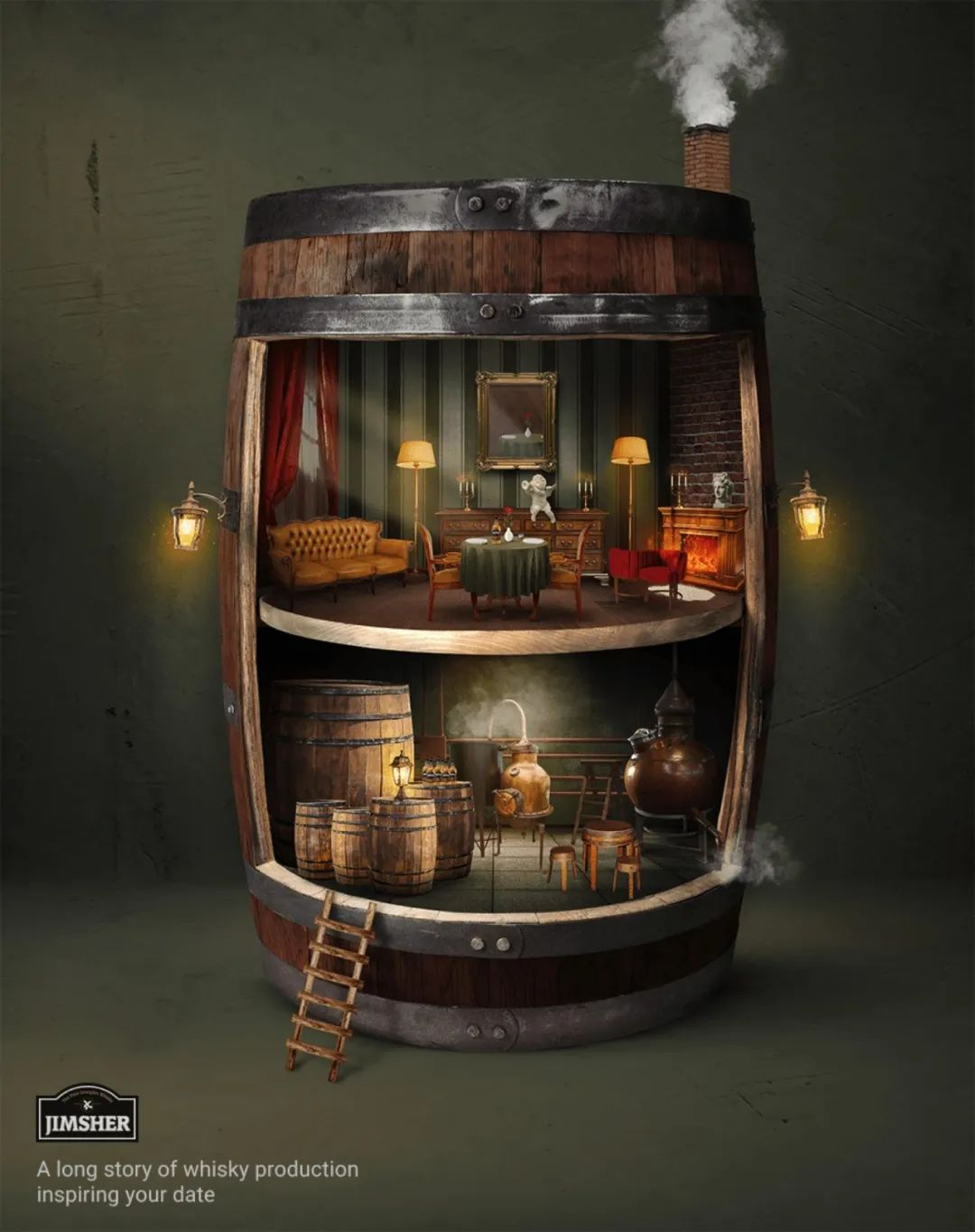 悠久历史的酒!JIMSHER威士忌广告欣赏