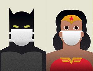 拯救生命,即使是超级英雄,也必须戴口罩!