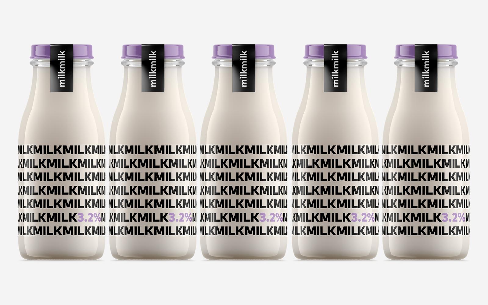 看一眼,就知道脂肪含量!Milkmilk概念牛奶包装