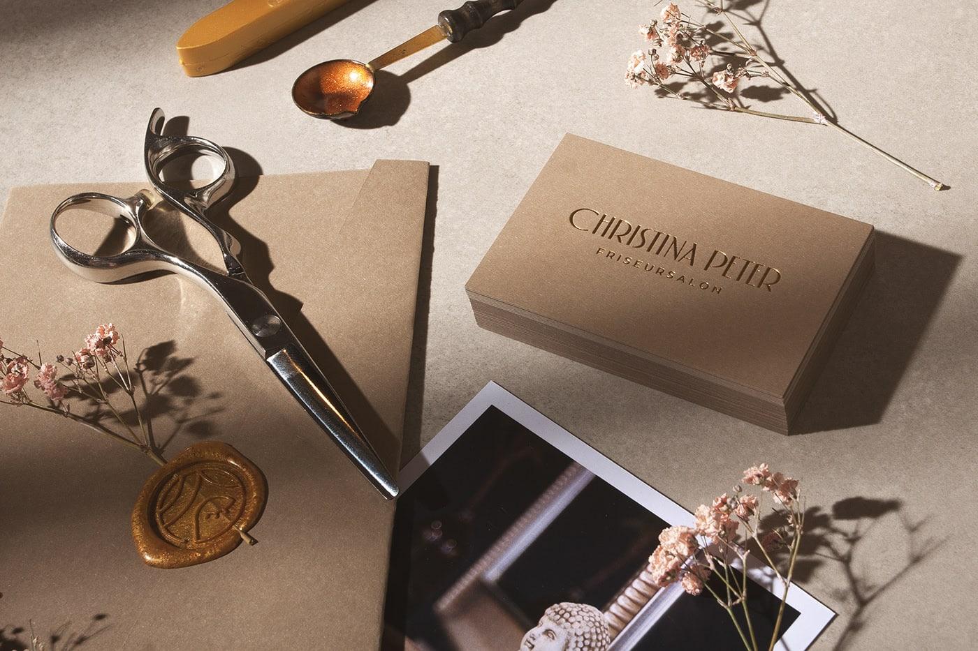 经典,温暖,优雅!Christina Peter美发沙龙品牌设计