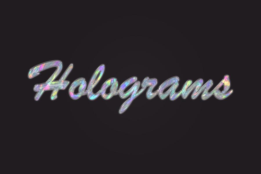 Photoshop制作剔透的彩色玻璃字