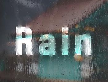 Photoshop制作玻璃上的雨滴字效果