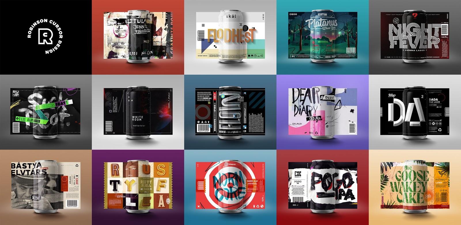 布达佩斯酒吧啤酒概念包装设计