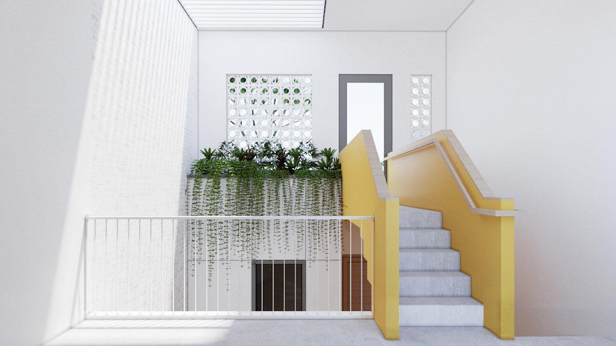 绿色中庭之美!3间越南简约现代住宅畅博官网手机app