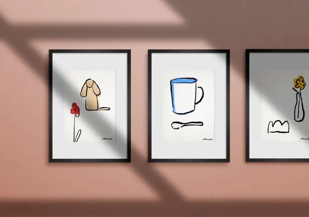 可爱的猫狗形象!韩国MIMINKO咖啡馆品牌视觉设计
