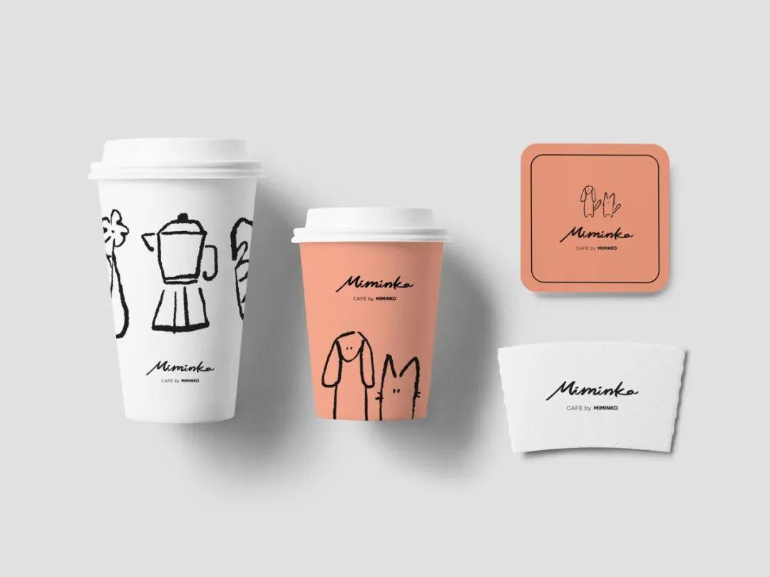 咖啡馆MIMINKO品牌视觉<a href=http://www.cafa123.com/ target=_blank class=infotextkey>设计</a>