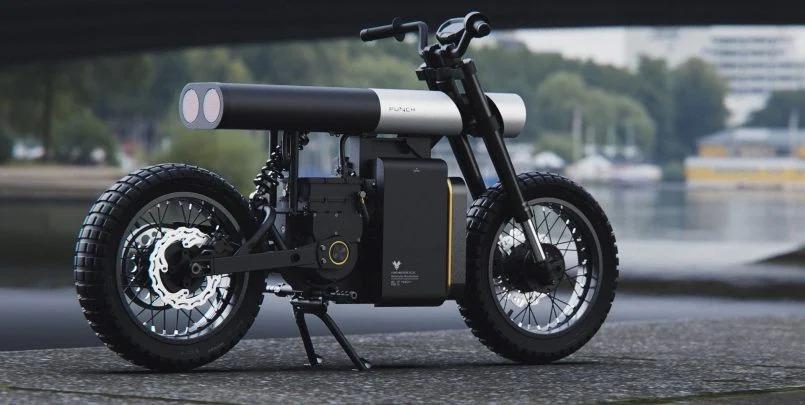 极简主义风格的PUNCH电动摩托车设计