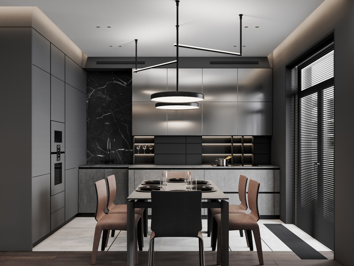 147平米高级黑轻奢复式住宅畅博官网手机app