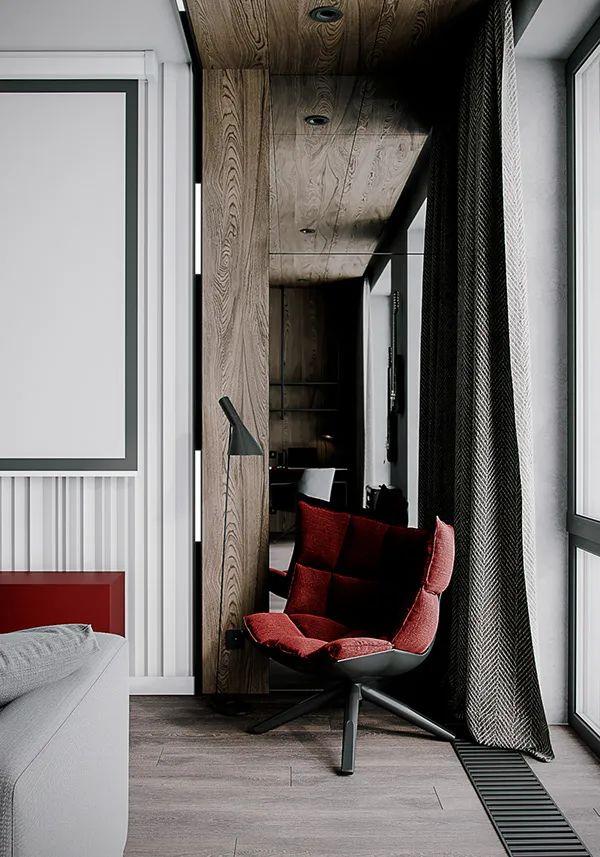 高级灰+原木系!现代简约公寓畅博官网手机app
