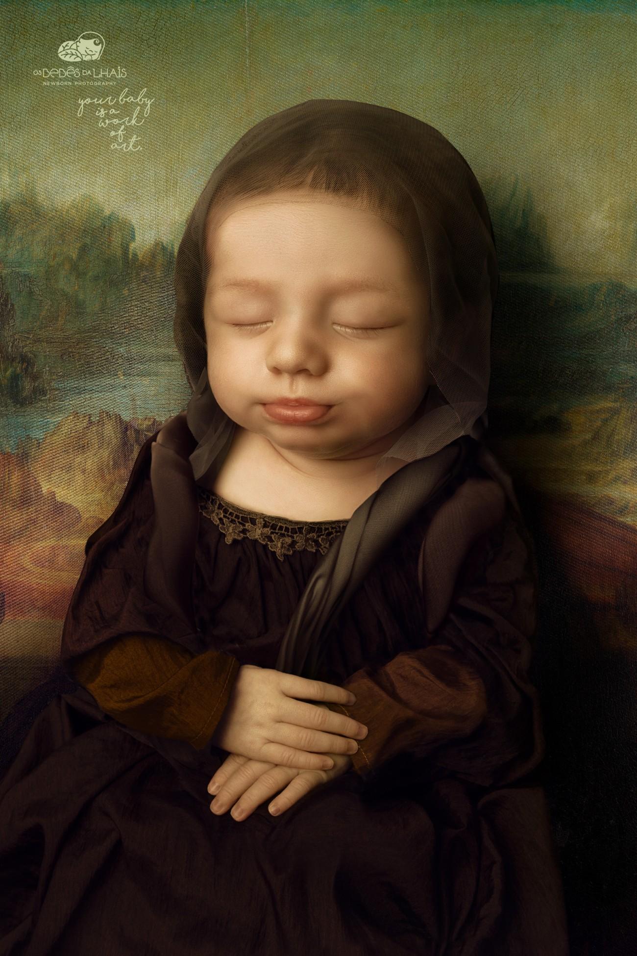 您的宝宝是一件艺术品!Os Bebês da Lhais摄影工作室创意广告