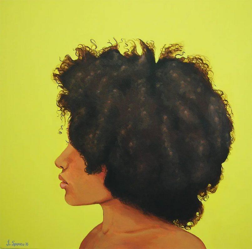 发型之美!Jessica Spence黑人插画作品