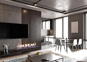 高级灰+轻工业风格打造魅力住宅空间