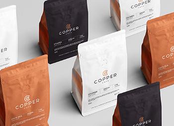 铜的金属质感!Copper咖啡店品牌视觉畅博官网手机app