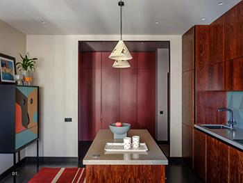 红绿撞色也可以很时尚很清新!莫斯科90平公寓畅博官网手机app