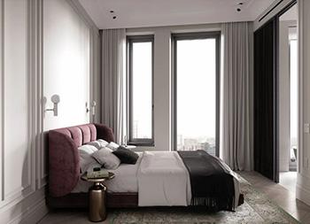 高雅和谐,60㎡新古典主义风格公寓