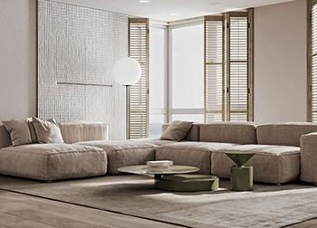 灰白+原木色,简约风演绎高级质朴美学