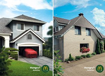 饥饿的房子!麦当劳创意广告欣赏