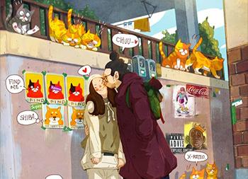 韩国艺术家15 Kun漫画风格插画作品