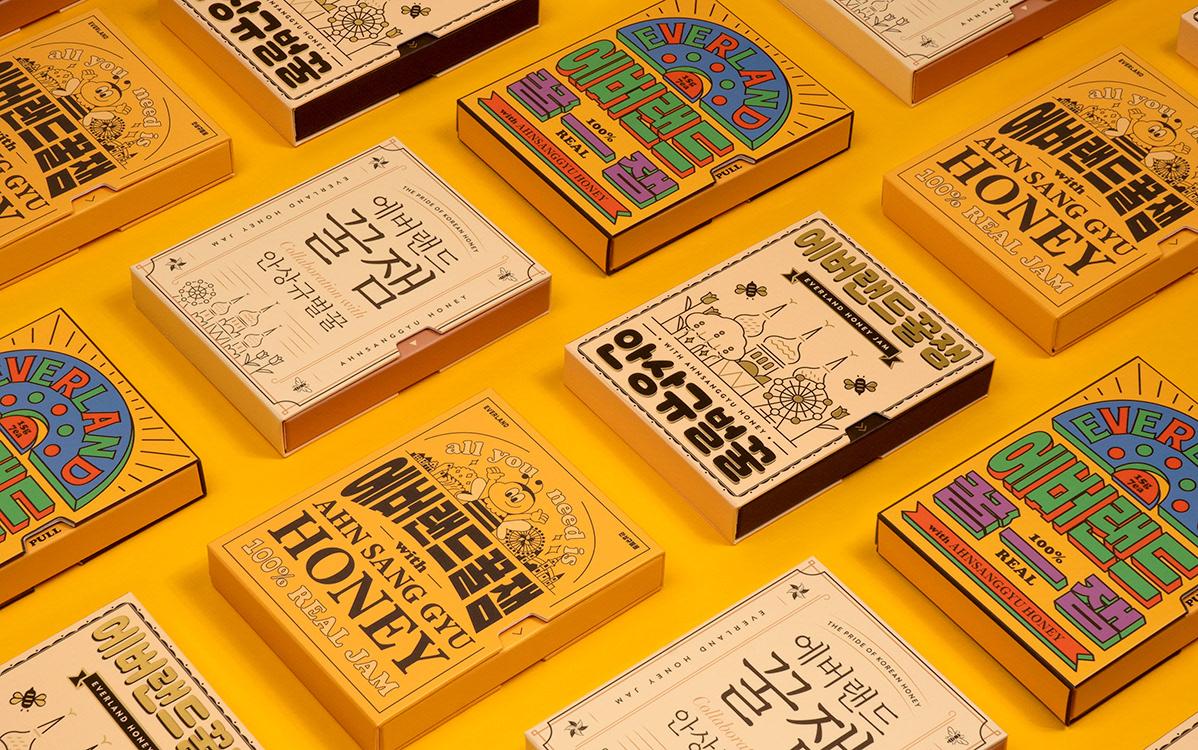 韩国Everland蜂蜜包装设计