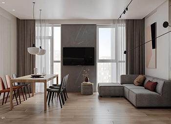 盐系+原木,极富生活气息的现代住宅设计