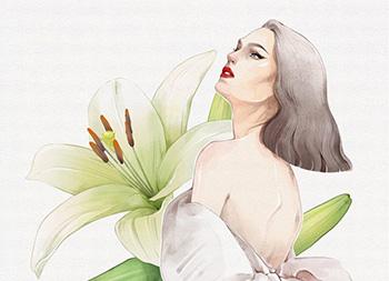 新加坡Alex Tang潮流女性人物插画作品