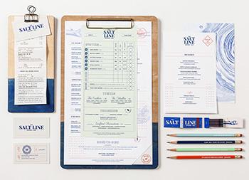 Salt Line Oyster + Ale海鲜餐厅品牌识别设计