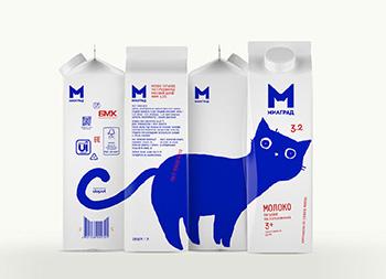可爱的萌猫!Milgrad牛奶包装设计