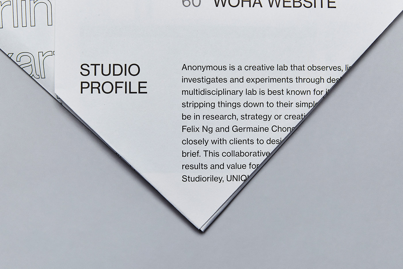 新加坡创意工作室Anonymous画册设计欣赏