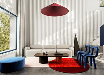 红+蓝!3间精致优雅的现代住宅设计