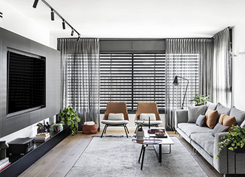 极简黑白!以色列现代住宅设计