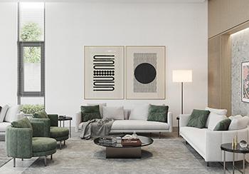 优雅浅灰+木质元素,迪拜480平现代住宅设计