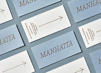 Manhatta餐厅品牌形象识别w88手机官网平台首页