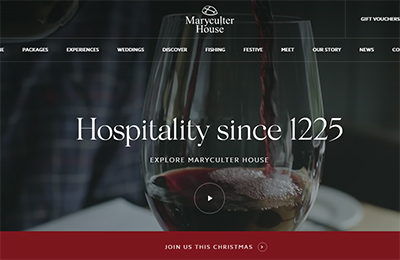 Maryculter House酒店网站设计