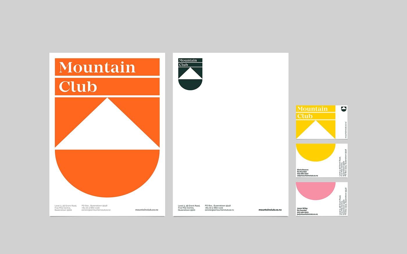 Mountain Club度假酒店品牌识别设计