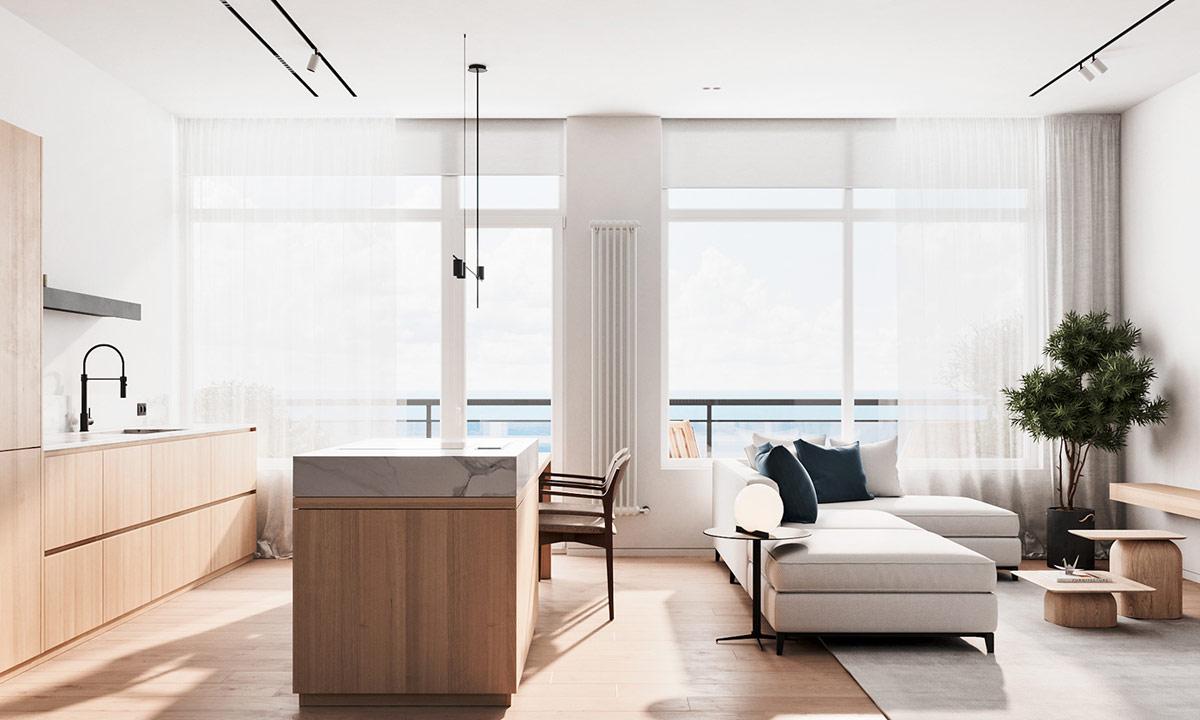 清新海洋蓝!120平干净舒适的现代住宅设计