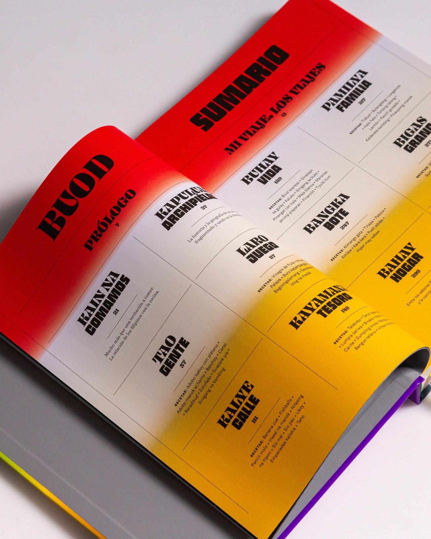 菲律宾美食的图书画册设计
