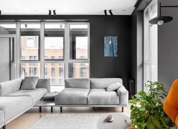 酷黑+红色,打造前卫时尚家居空间