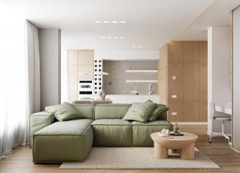 2间70平时尚简约一居室公寓设计