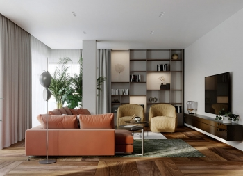 温暖和温馨的氛围!2套160平米现代住宅设计