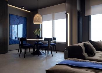 用光装饰!3个酷黑风格的家装设计