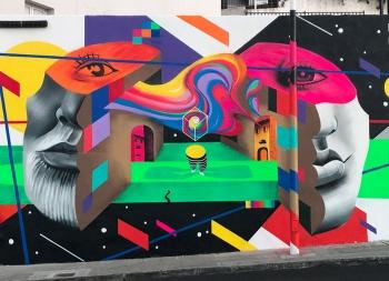Magda ?wik超现实风格街头壁画艺术