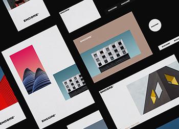 极简风格!ENCORE建筑事务所品牌设计