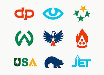 Allan Peters巧妙的负空间logo设计