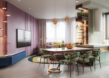 实验性的色彩碰撞!富有艺术感的多彩家居空间w88手机官网平台首页