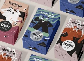 时尚插画风!KOFIKADA咖啡包装盒设计