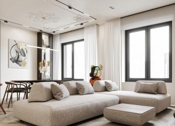 彩色艺术元素! 宁静的灰白色现代家居空间w88手机官网平台首页