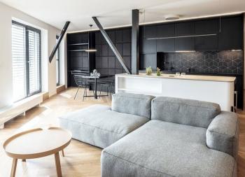黑白配的现代简约住宅设计